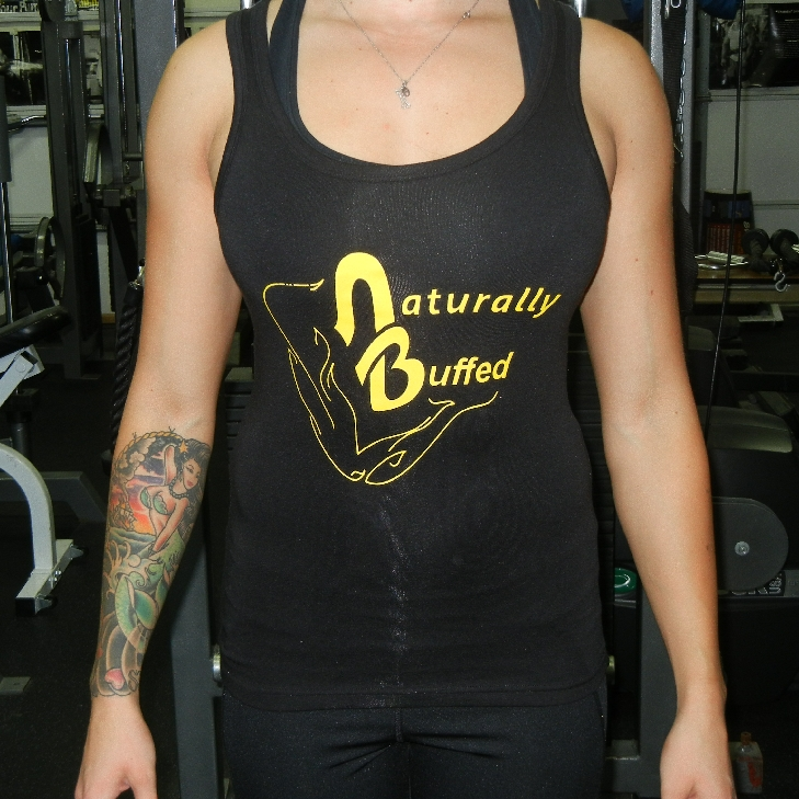 Womens-Naturally-Buffed-Black-Yellow-Jersey-tank