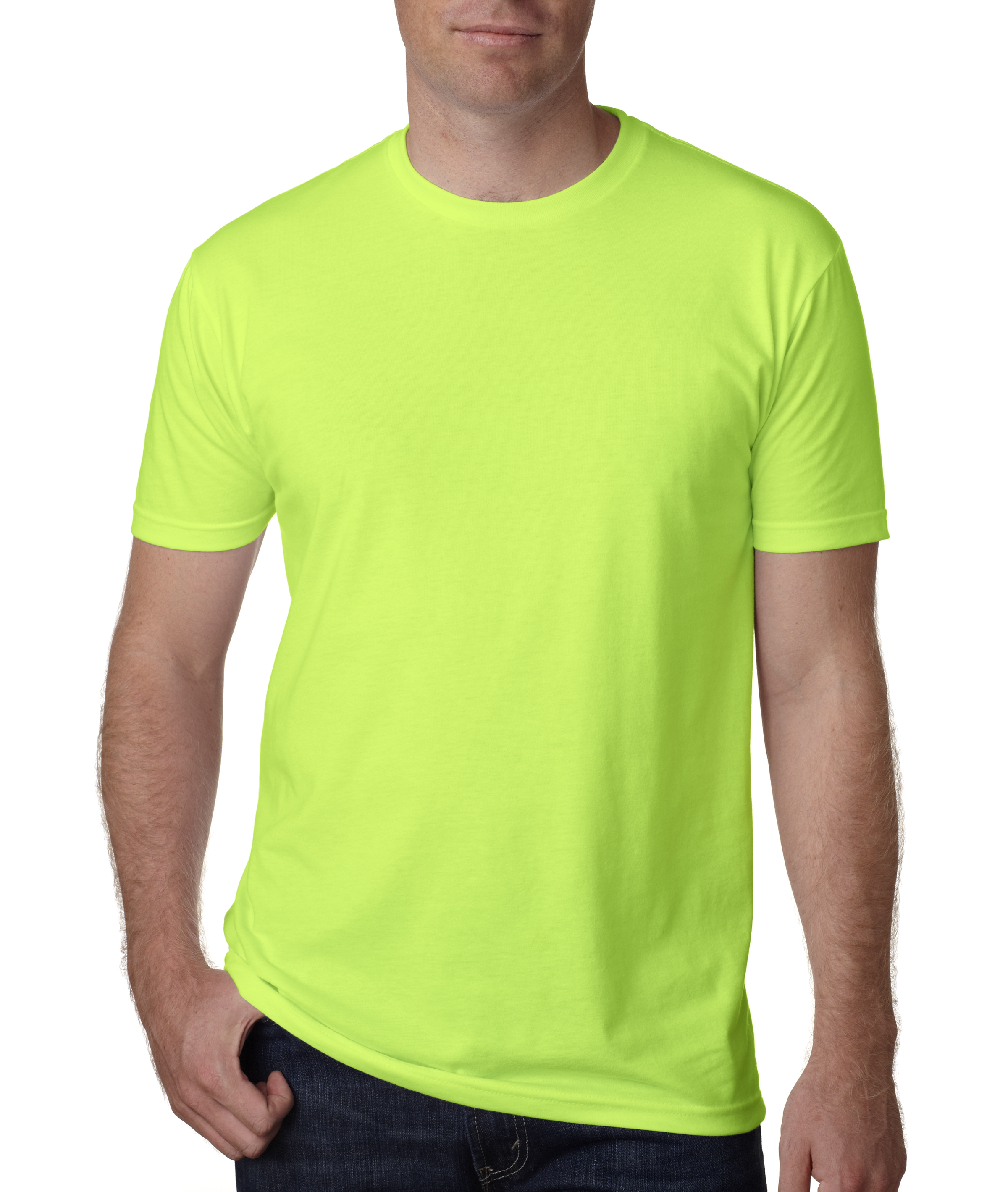 Men 39 s buffedwear tee tank or muscle shirt no outline for Neon green shirts for men