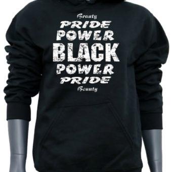 Black Power Pride Beauty-BlackSweatshirt-woman
