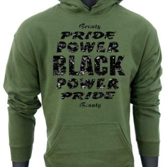 Black Power Pride Beauty-GreenSweatshirt-man2