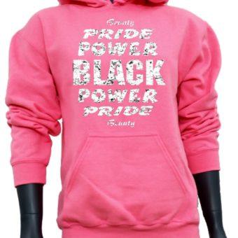 Black Power Pride Beauty-PinkSweatshirt-woman2