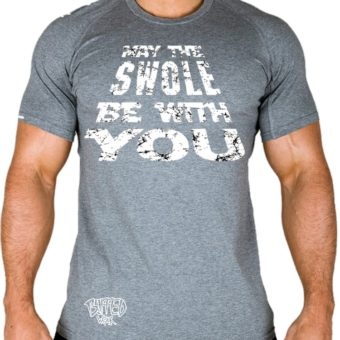 Man-May The SWOLE Be With You-t-shirt-white