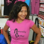 Womens-Naturally-Buffed-Black-Pink-Cap-Sleeve
